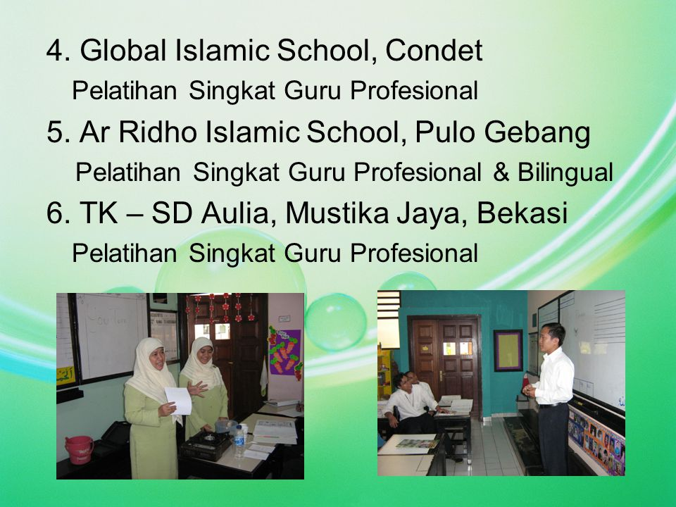 4. Global Islamic School, Condet