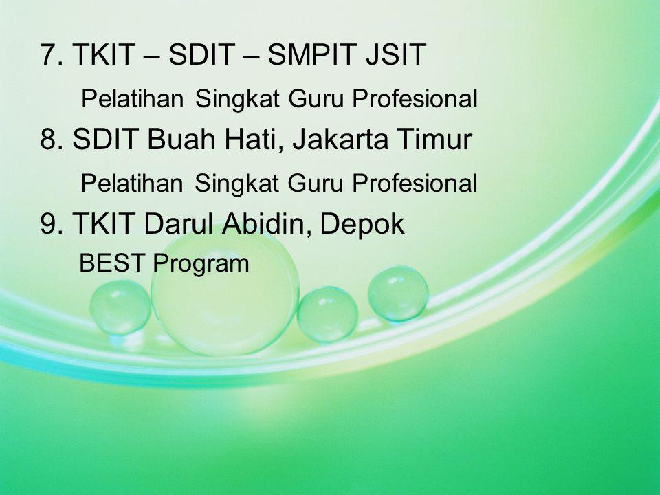 Pelatihan Singkat Guru Profesional 8. SDIT Buah Hati, Jakarta Timur
