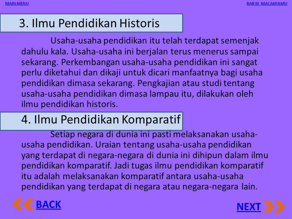 3. Ilmu Pendidikan Historis