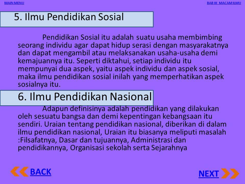5. Ilmu Pendidikan Sosial
