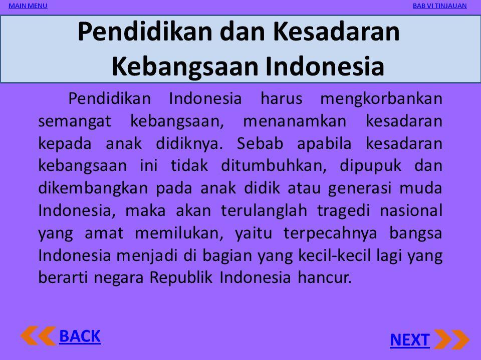 Pendidikan dan Kesadaran Kebangsaan Indonesia