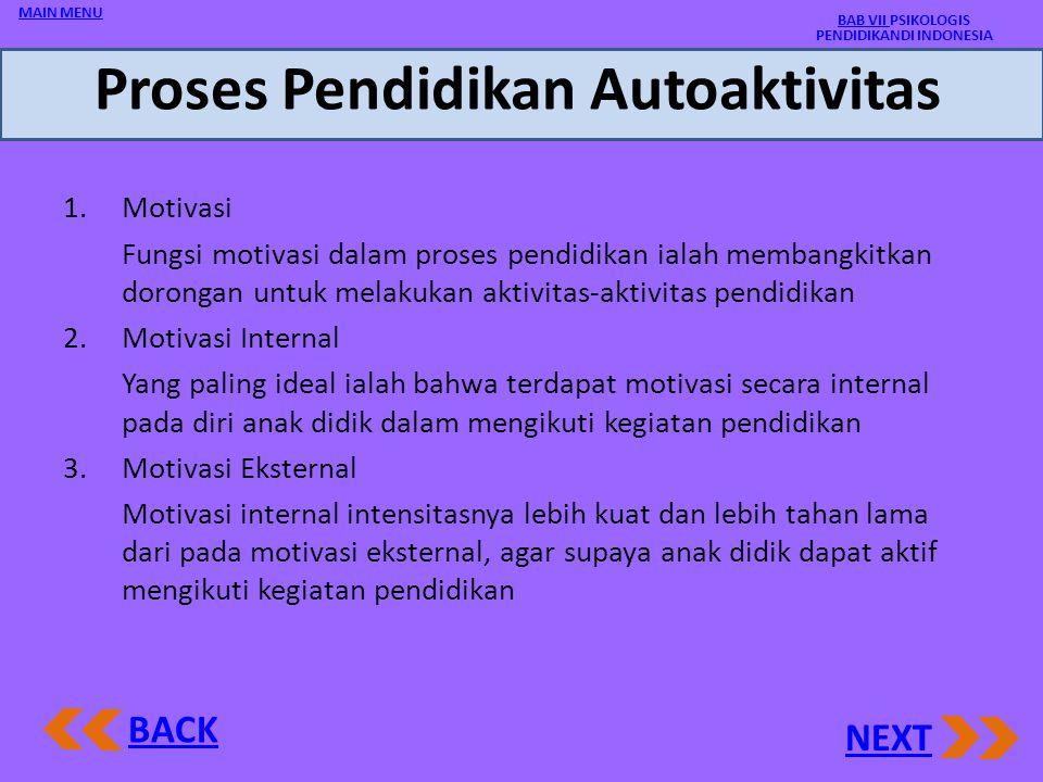 Proses Pendidikan Autoaktivitas