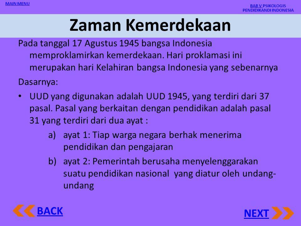 BAB V PSIKOLOGIS PENDIDIKANDI INDONESIA