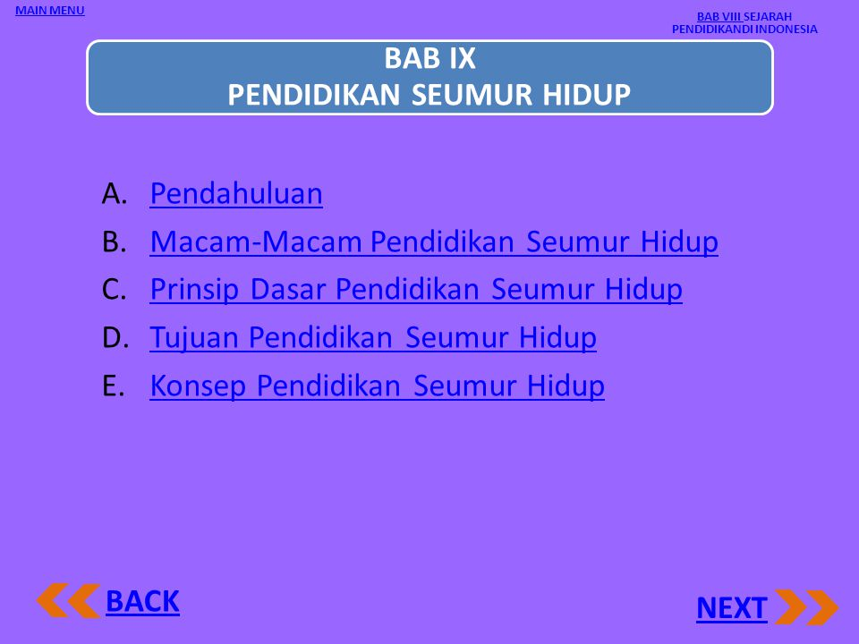 BAB VIII SEJARAH PENDIDIKANDI INDONESIA