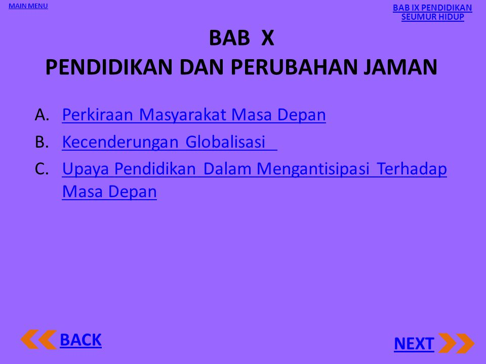 BAB X PENDIDIKAN DAN PERUBAHAN JAMAN