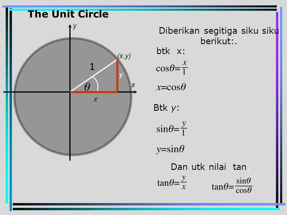Diberikan segitiga siku siku berikut:.