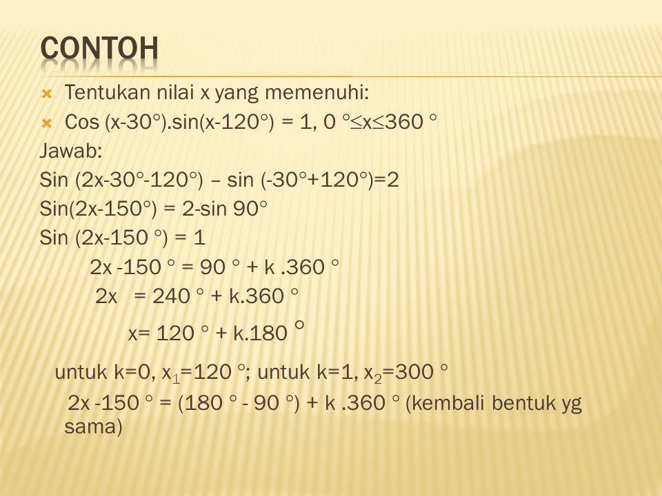 contoh untuk k=0, x1=120 ; untuk k=1, x2=300 