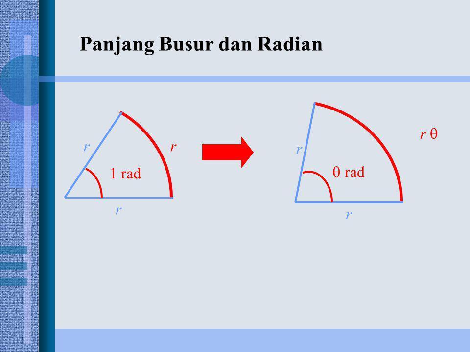 Panjang Busur dan Radian