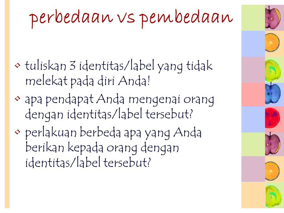 perbedaan vs pembedaan