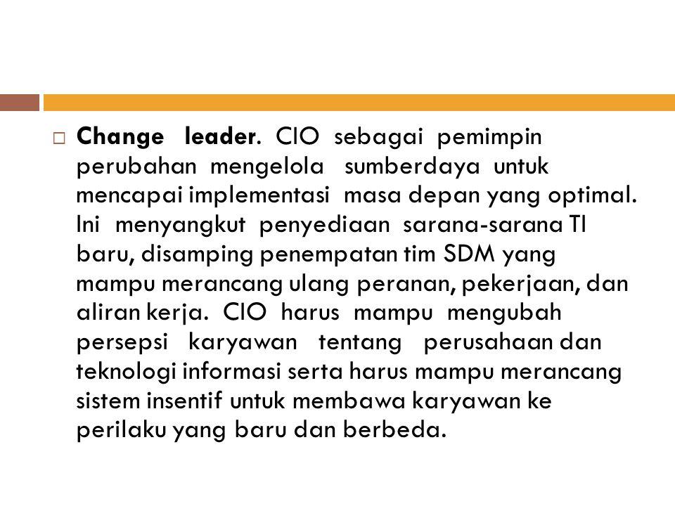 Change leader.
