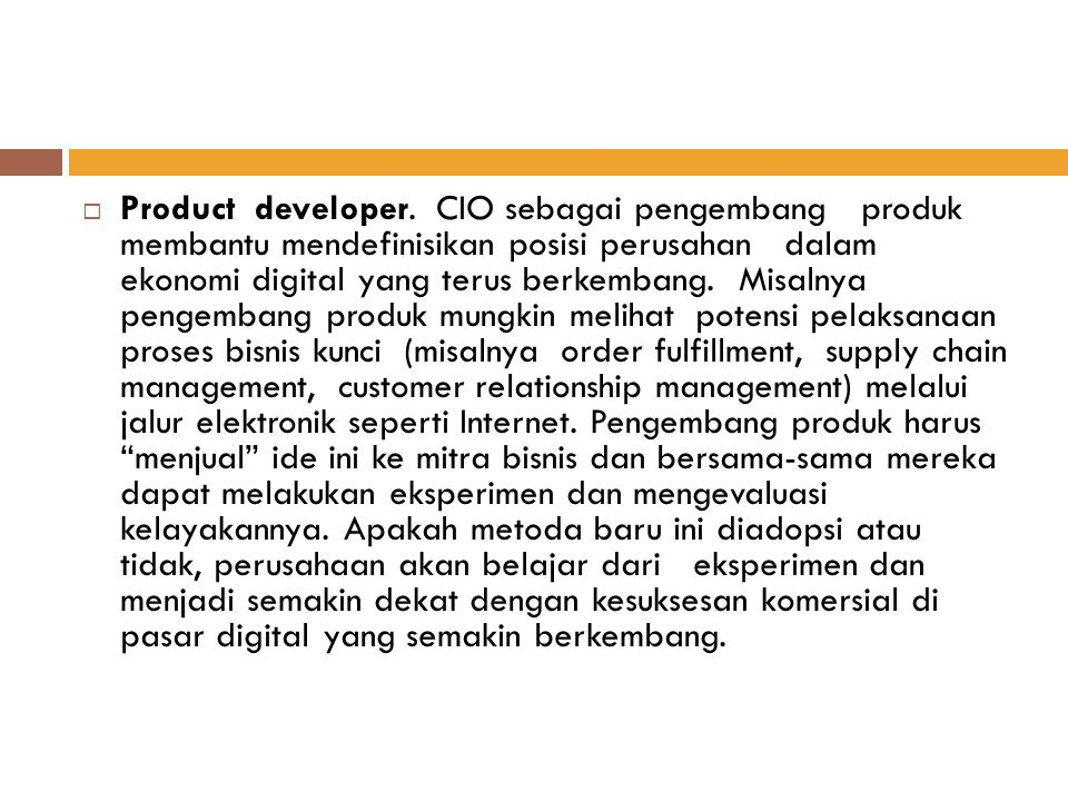 Product developer.
