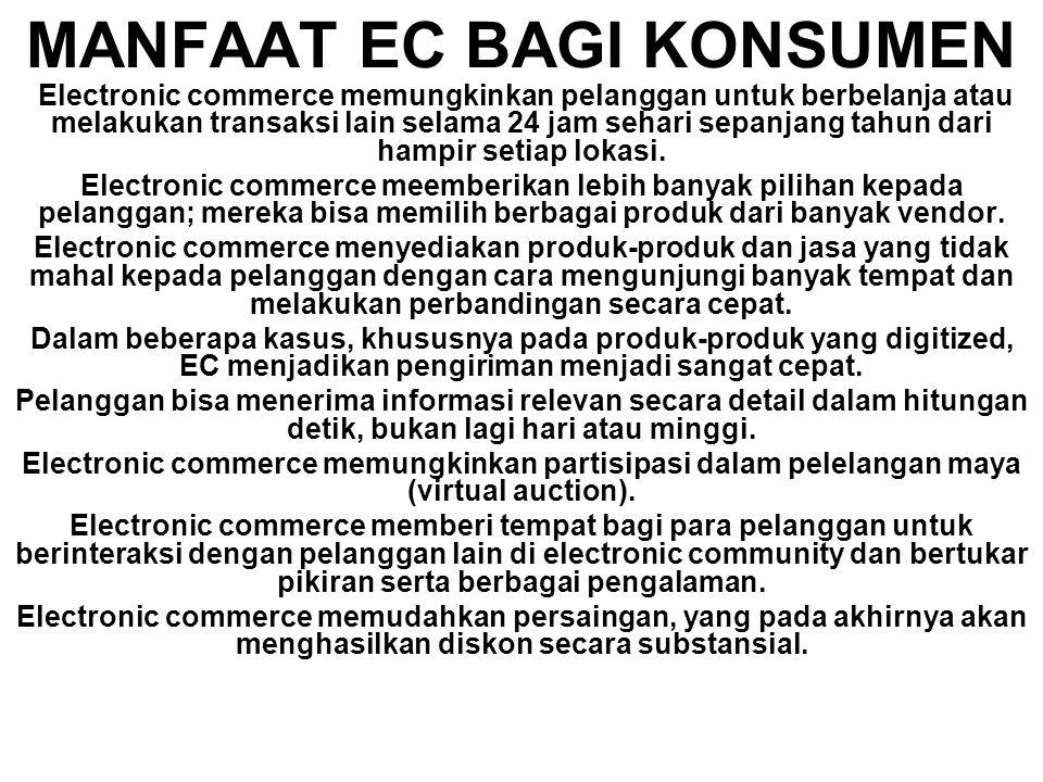 MANFAAT EC BAGI KONSUMEN