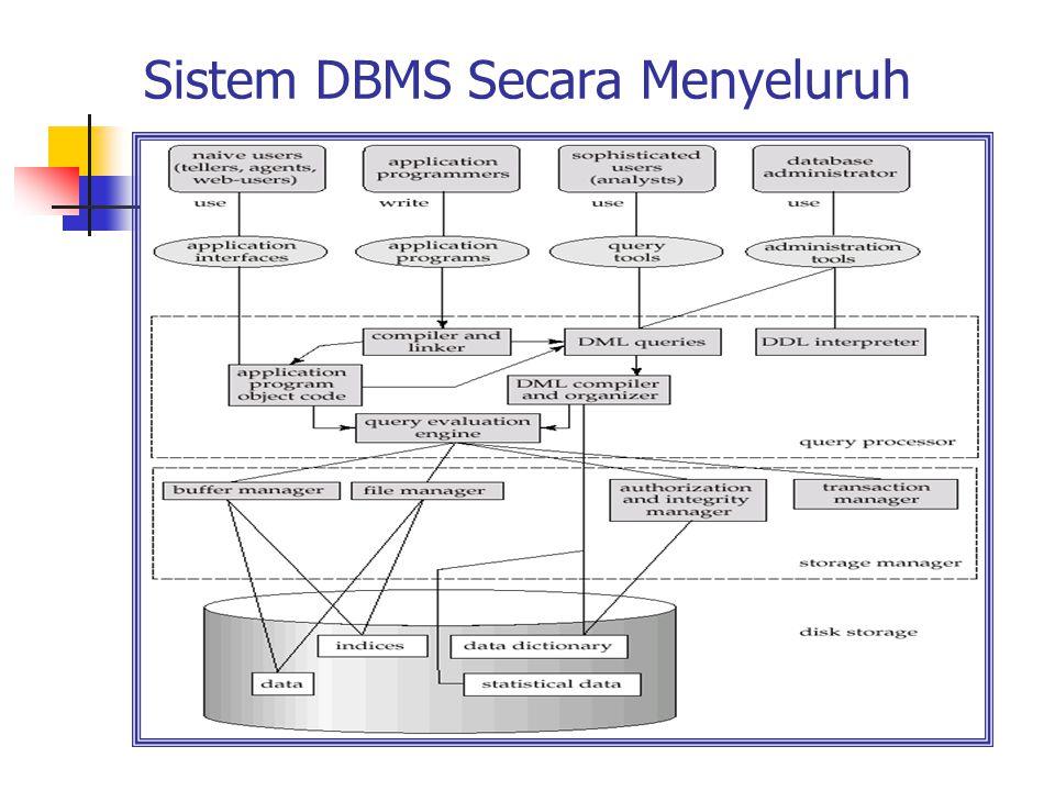 Sistem DBMS Secara Menyeluruh