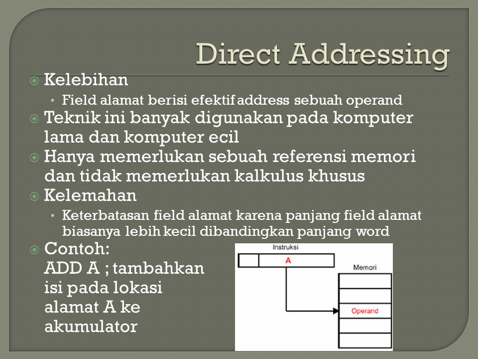 Direct Addressing Kelebihan