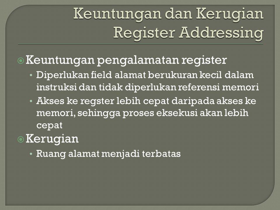Keuntungan dan Kerugian Register Addressing