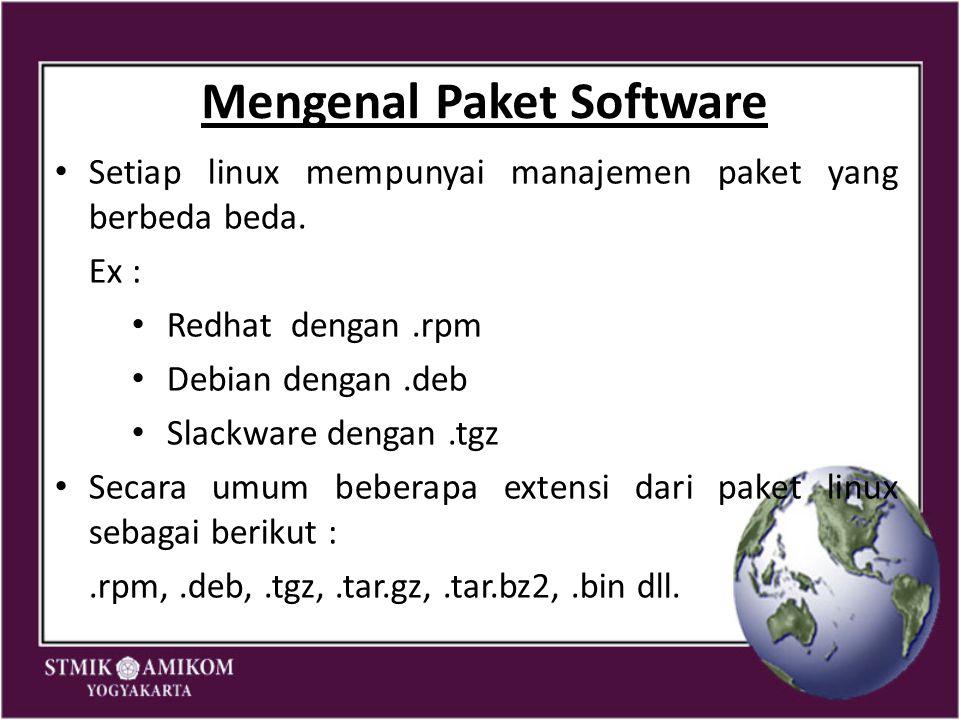 Mengenal Paket Software