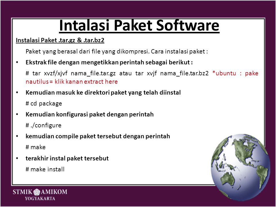 Intalasi Paket Software