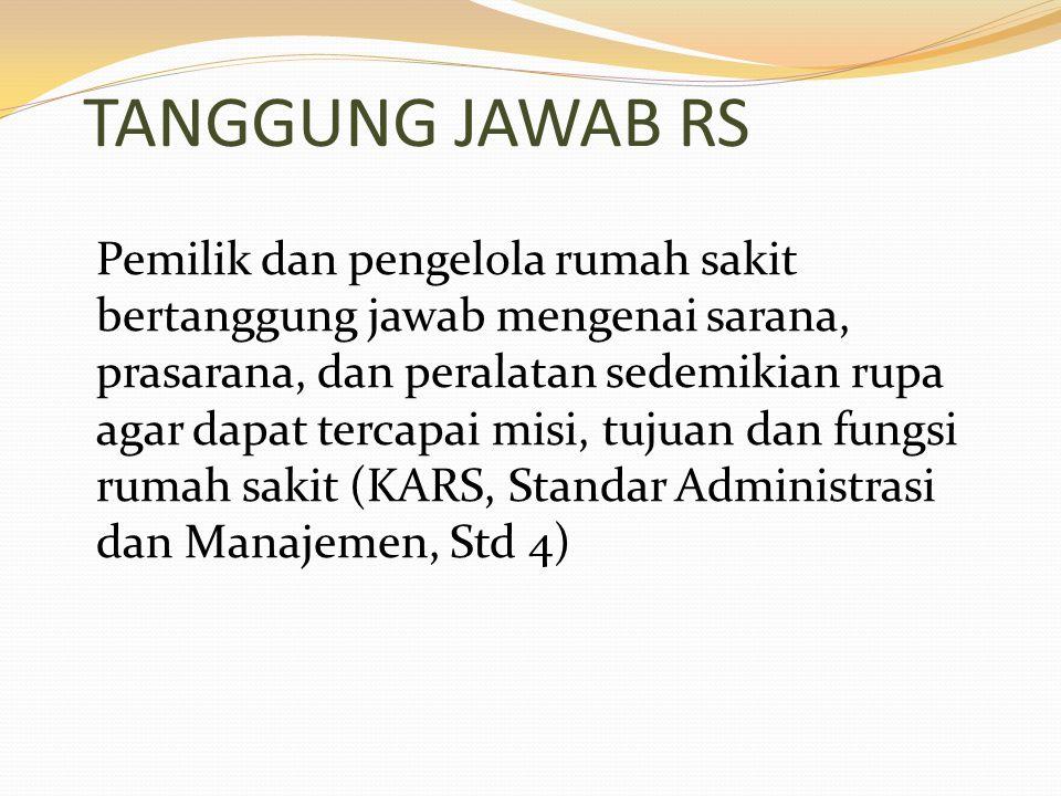 TANGGUNG JAWAB RS