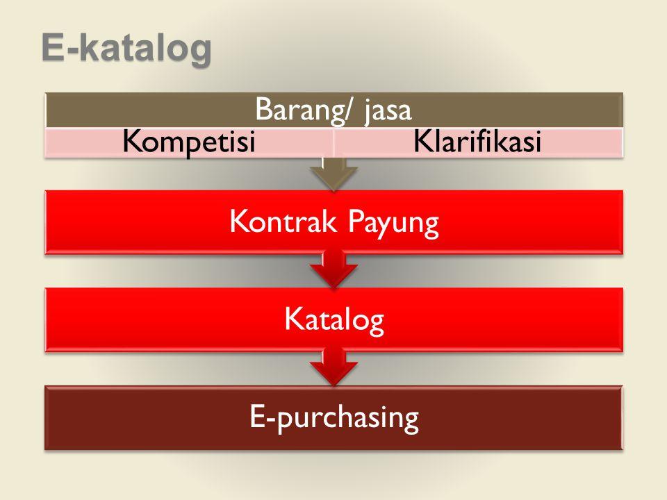 E-katalog Barang/ jasa Kompetisi Klarifikasi Kontrak Payung Katalog