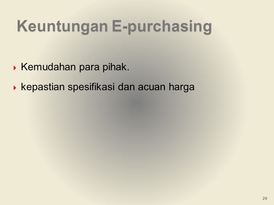 Keuntungan E-purchasing
