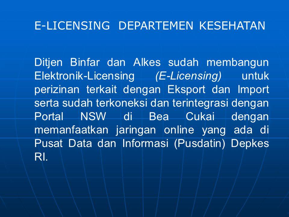 E-LICENSING DEPARTEMEN KESEHATAN