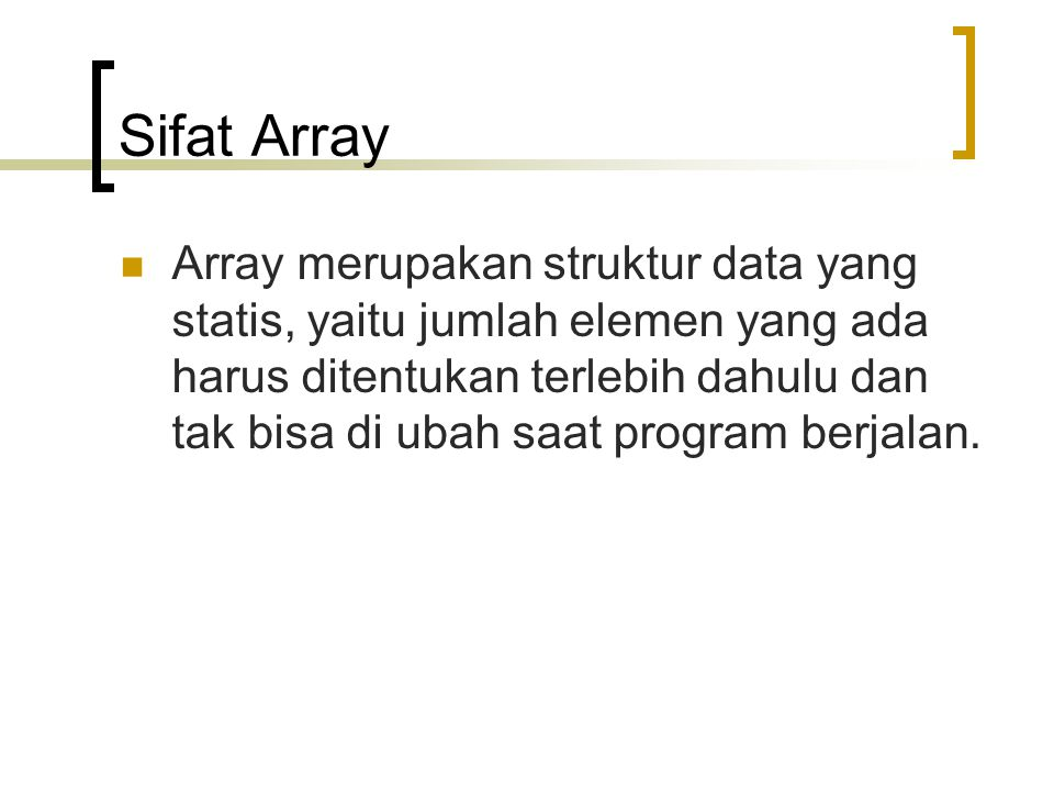 Sifat Array
