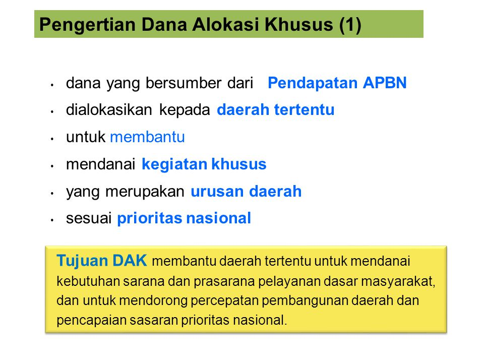 Pengertian Dana Alokasi Khusus (1)