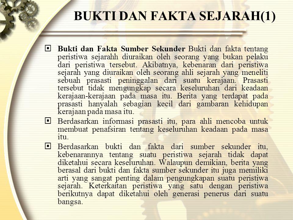 BUKTI DAN FAKTA SEJARAH(1)