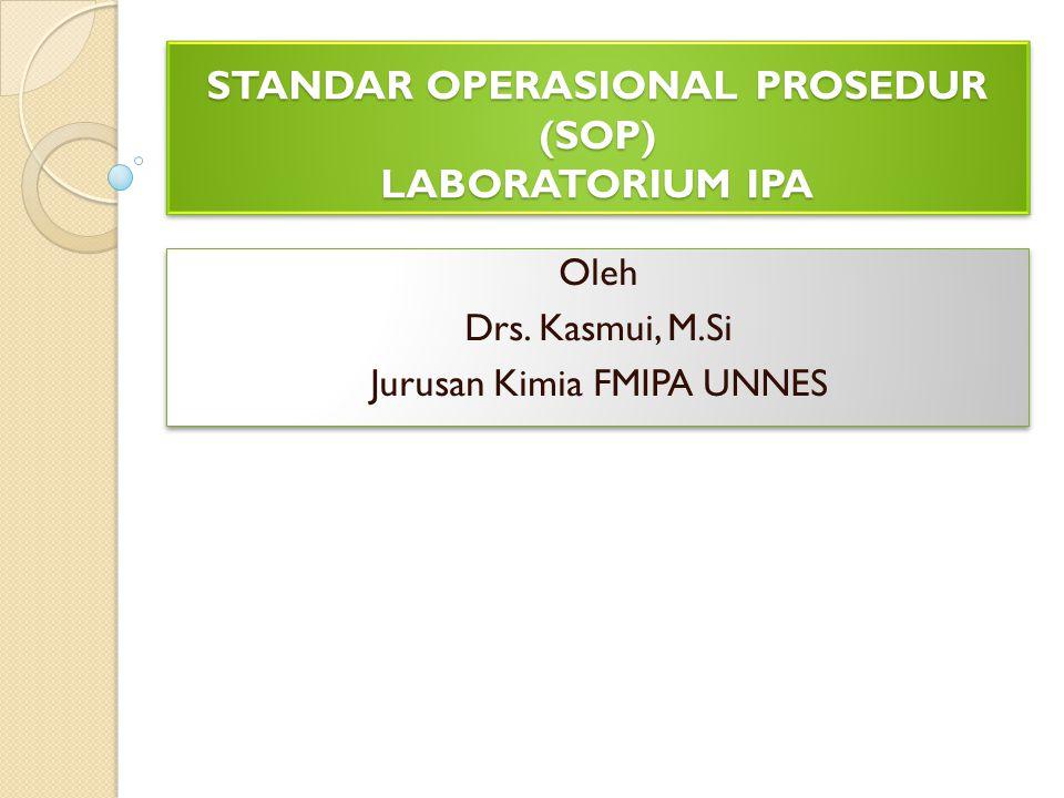 STANDAR OPERASIONAL PROSEDUR (SOP) LABORATORIUM IPA