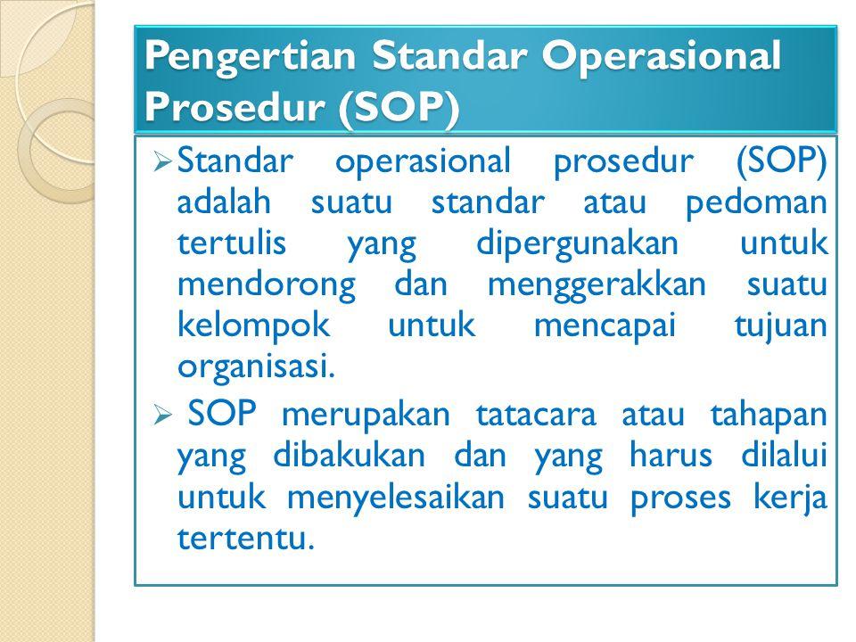 Pengertian Standar Operasional Prosedur (SOP)