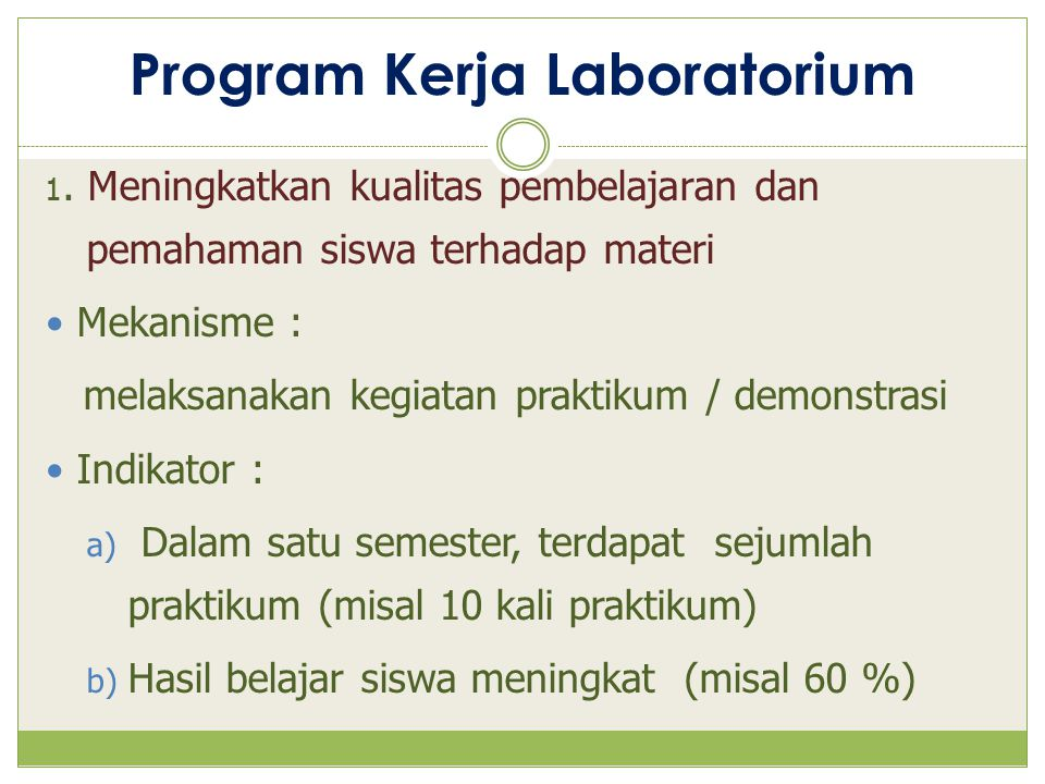 Program Kerja Laboratorium