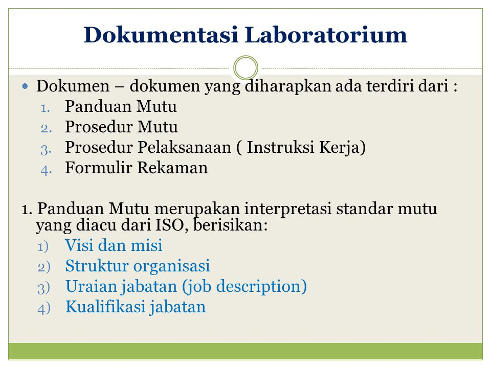Dokumentasi Laboratorium