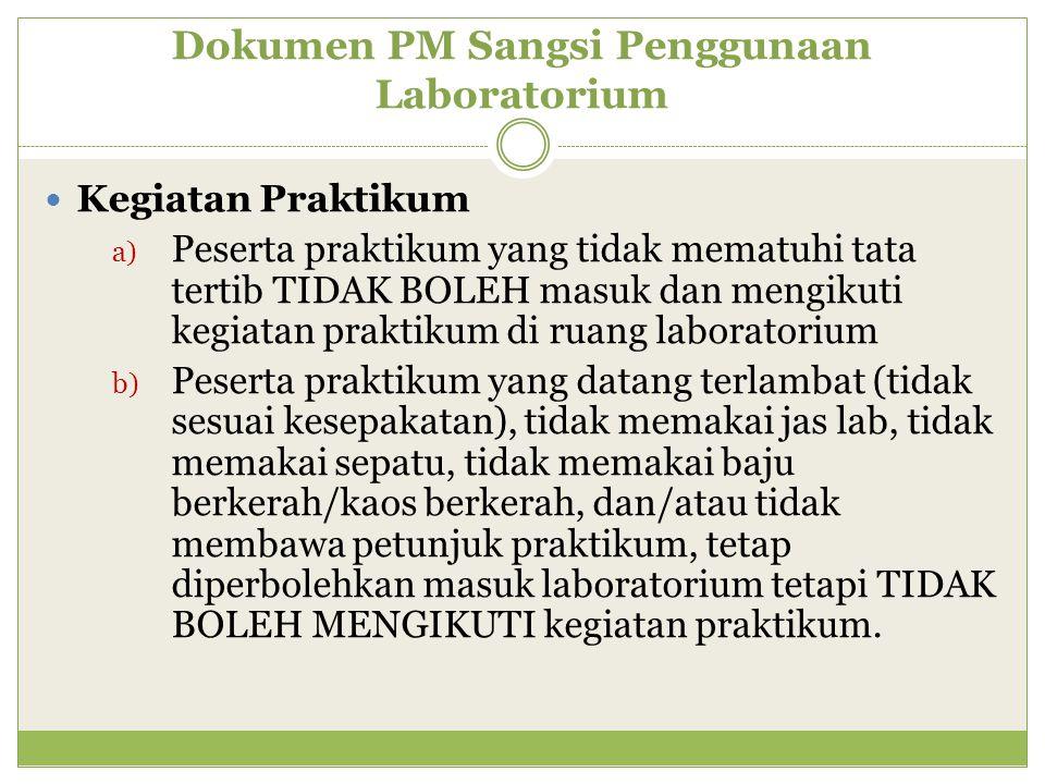 Dokumen PM Sangsi Penggunaan Laboratorium