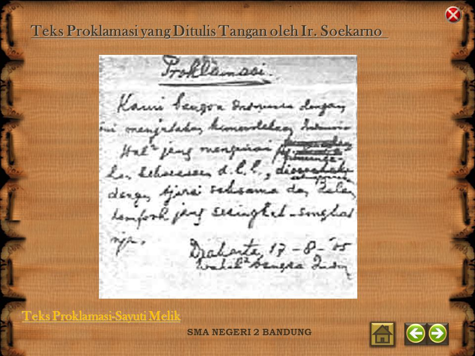 Teks Proklamasi yang Ditulis Tangan oleh Ir. Soekarno