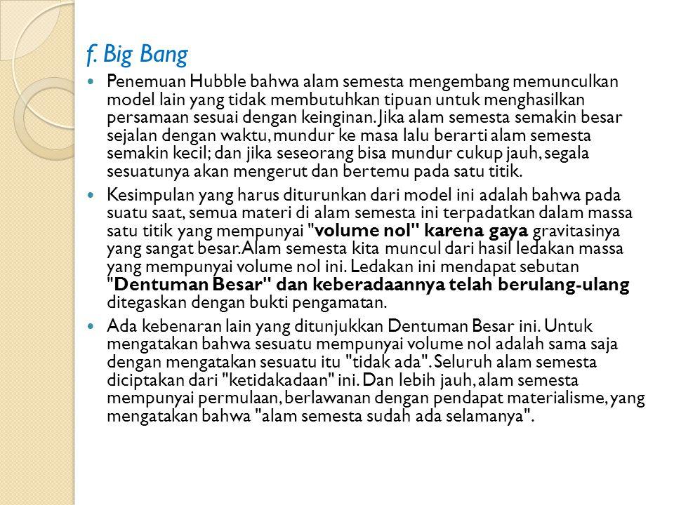 f. Big Bang