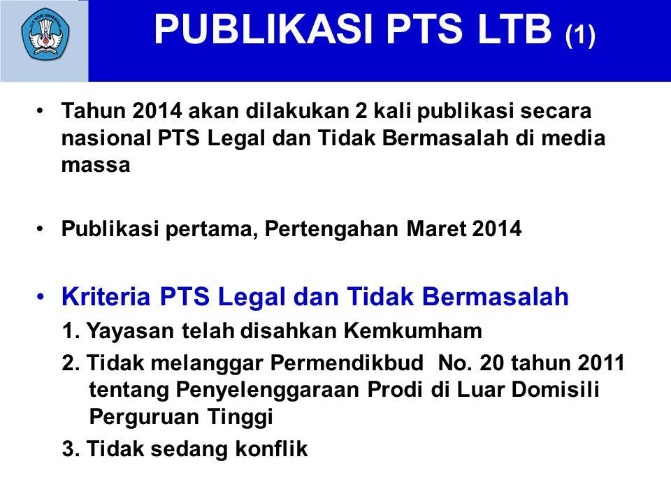 PUBLIKASI PTS LTB (1) Kriteria PTS Legal dan Tidak Bermasalah