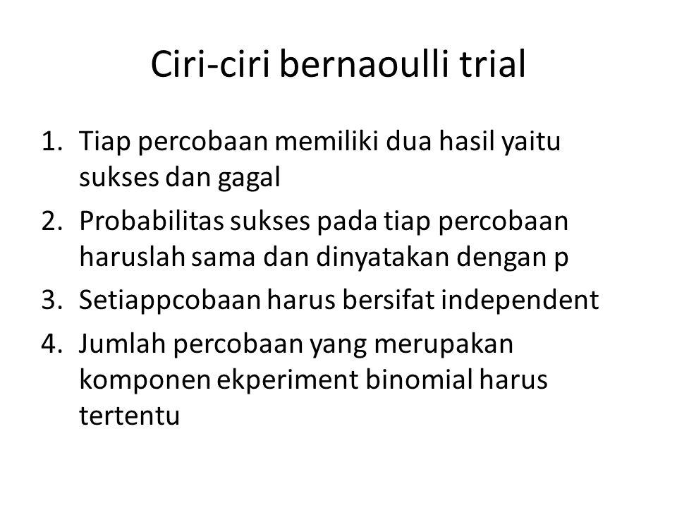 Ciri-ciri bernaoulli trial