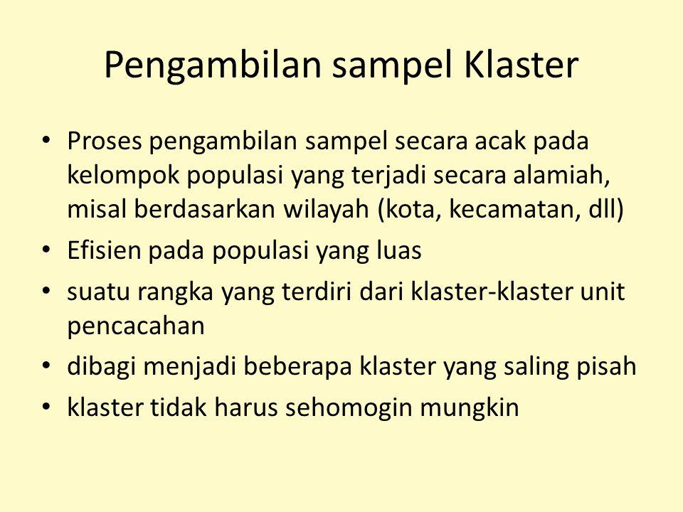 Pengambilan sampel Klaster