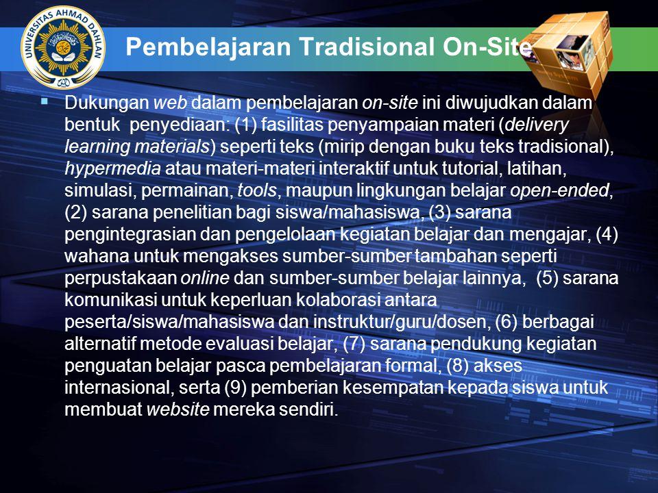Pembelajaran Tradisional On-Site