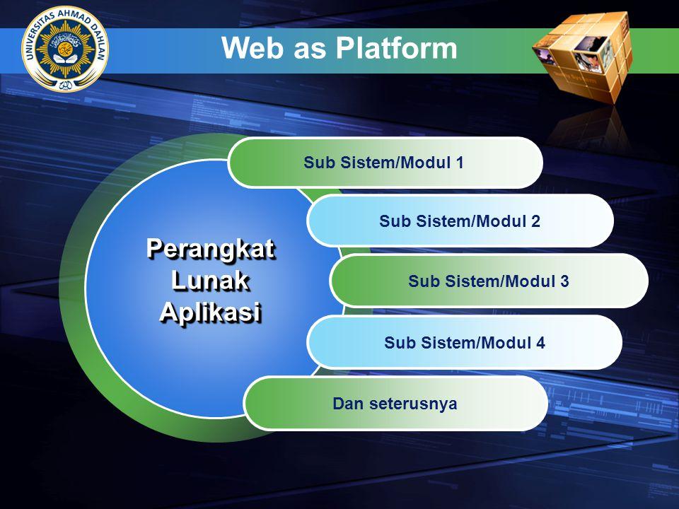Web as Platform Perangkat Lunak Aplikasi Sub Sistem/Modul 1