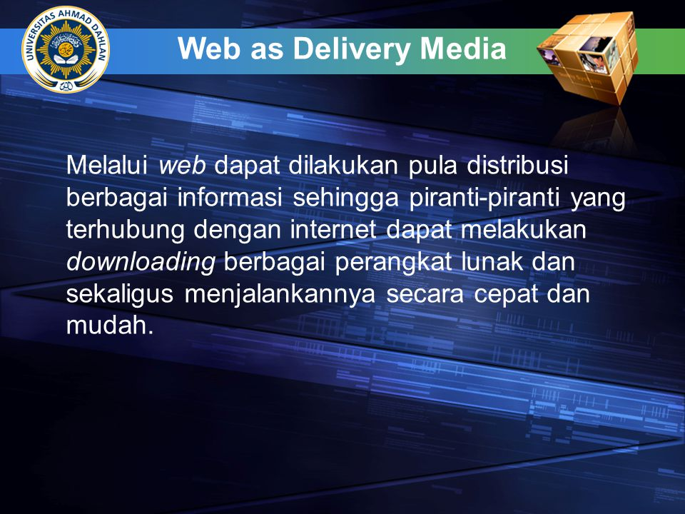 Web as Delivery Media