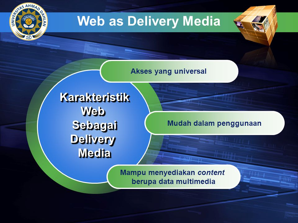Web as Delivery Media Karakteristik Web Sebagai Delivery Media
