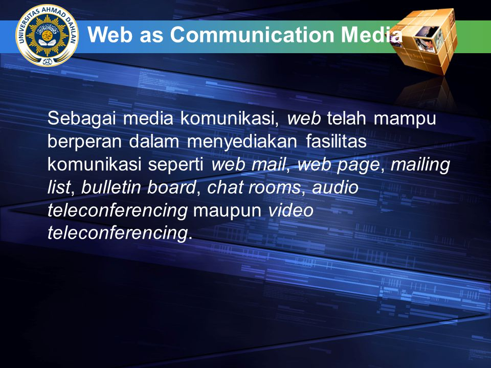 Web as Communication Media