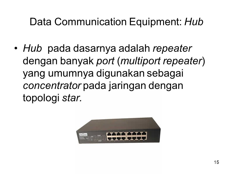Data Communication Equipment: Hub