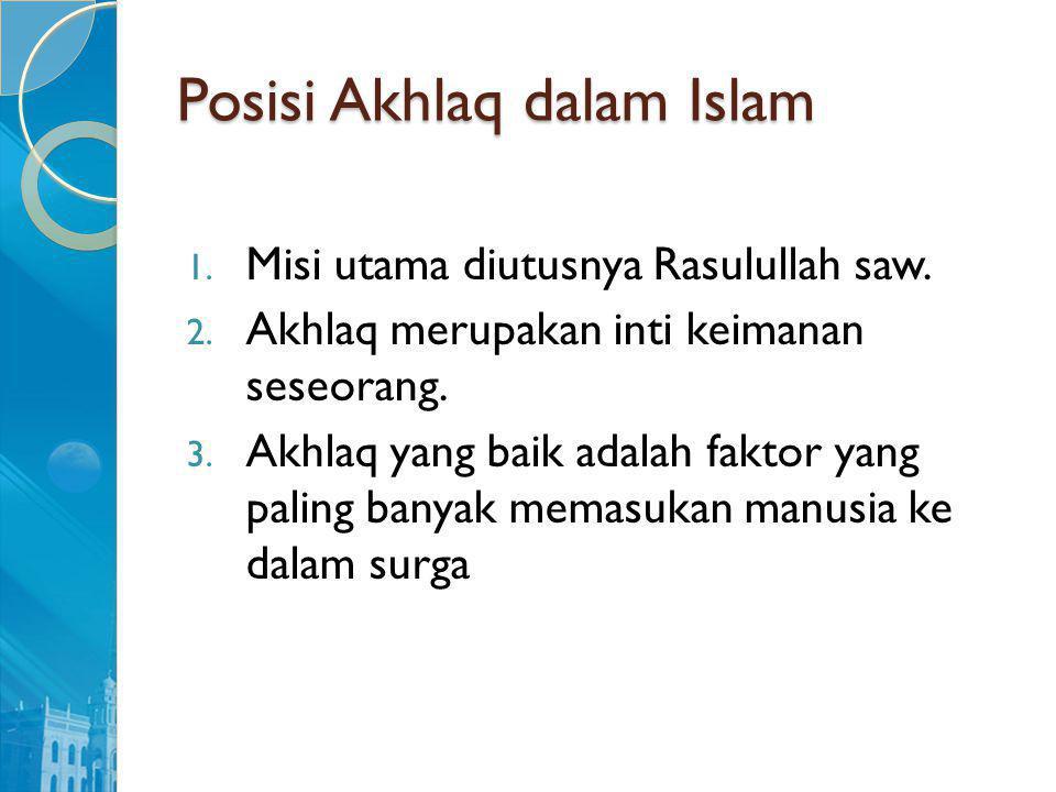 Posisi Akhlaq dalam Islam