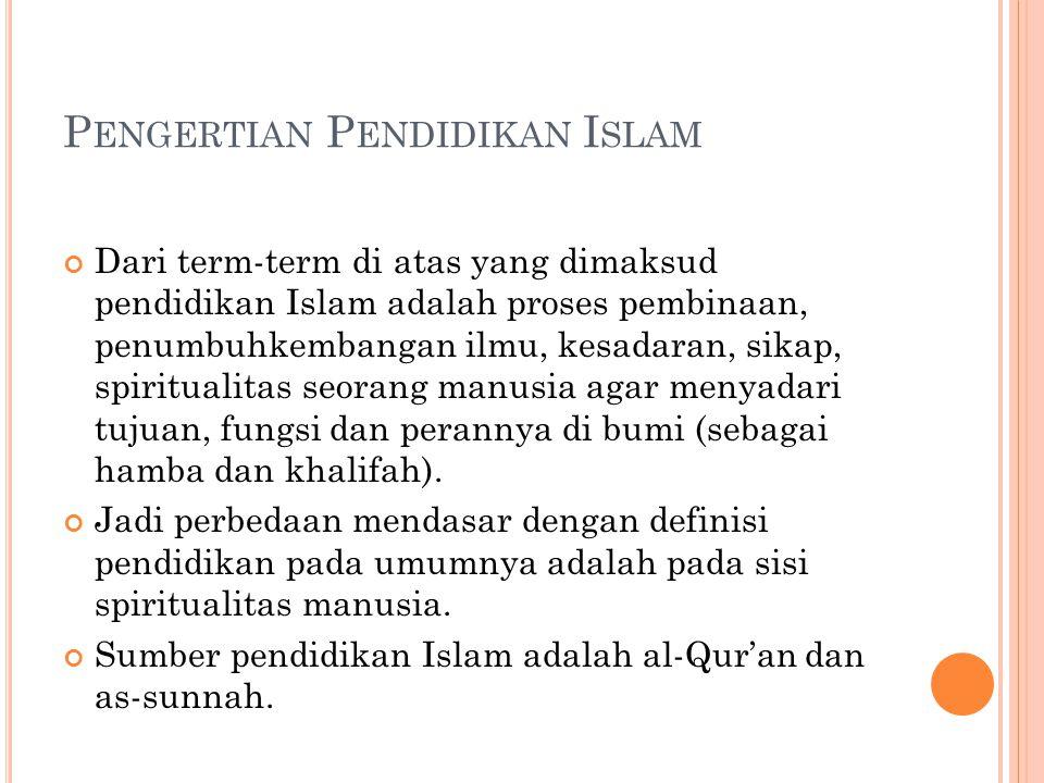 Pengertian Pendidikan Islam