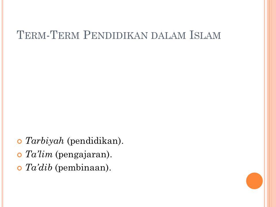 Term-Term Pendidikan dalam Islam