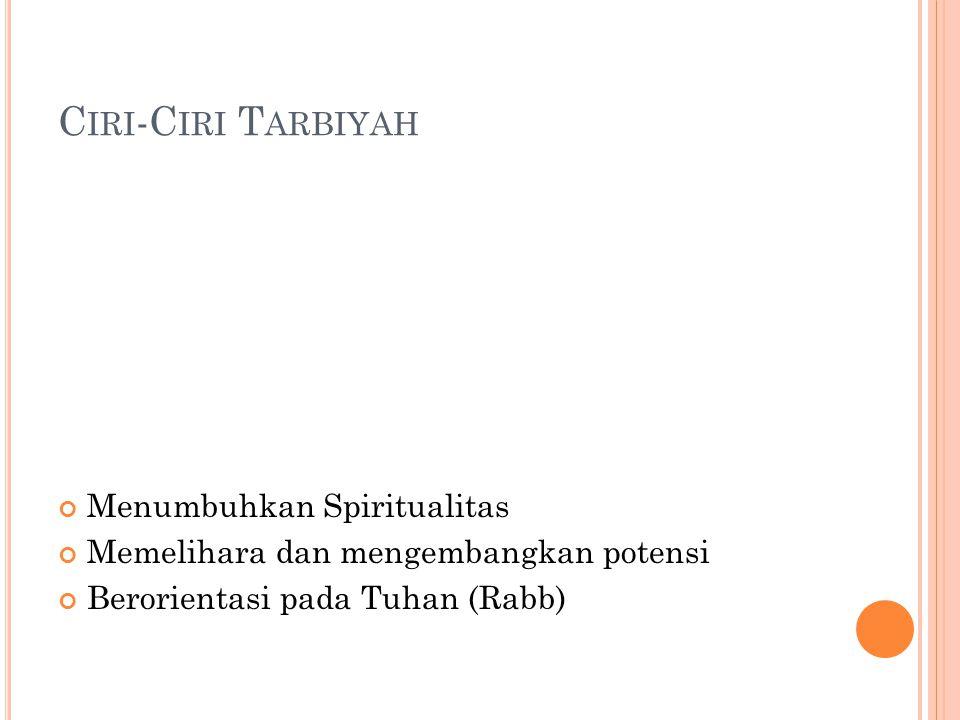 Ciri-Ciri Tarbiyah Menumbuhkan Spiritualitas
