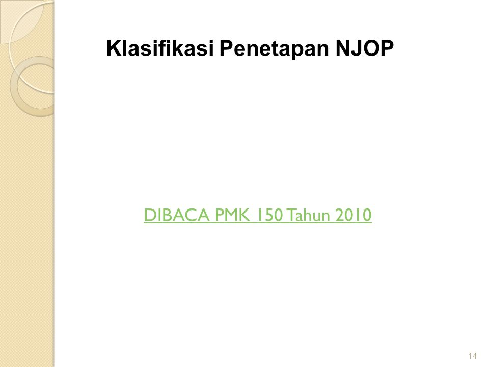 Klasifikasi Penetapan NJOP