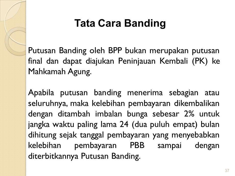 Tata Cara Banding Putusan Banding oleh BPP bukan merupakan putusan final dan dapat diajukan Peninjauan Kembali (PK) ke Mahkamah Agung.